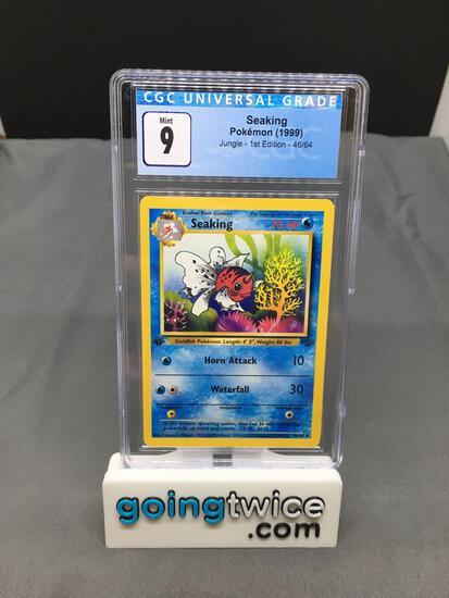 CGC Graded 1999 Pokemon Jungle 1st Edition #46 SEAKING Trading Card - MINT 9