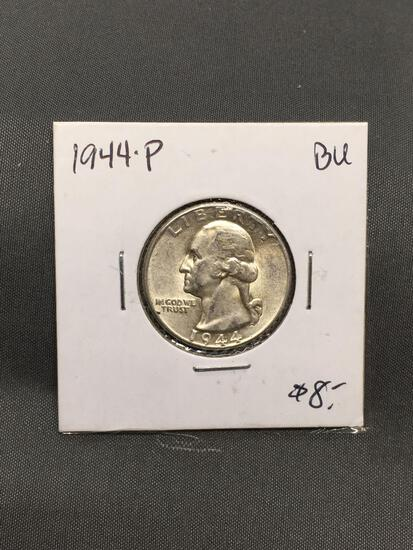 1944-P United States Washington Silver Quarter - 90% Silver Coin from ENORMOUS ESTATE