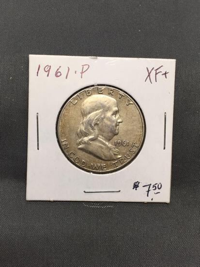 1961-P United States Franklin Silver Half Dollar - 90% Silver Coin from ENORMOUS ESTATE