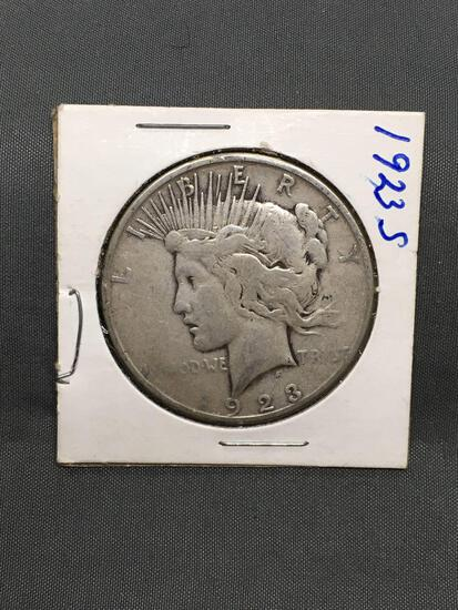 1923-S United States Peace Silver Dollar - 90% Silver Coin from Estate