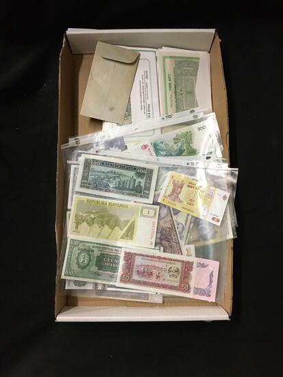 Huge Tray of Amazing Unsearched Foreign Currency from Estate - WOW
