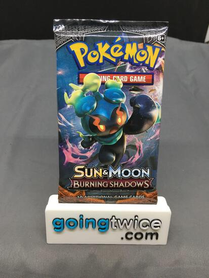 RARE Factory Sealed Pokemon Burning Shadows 10 Card Booster Pack - Rainbow Charizard?