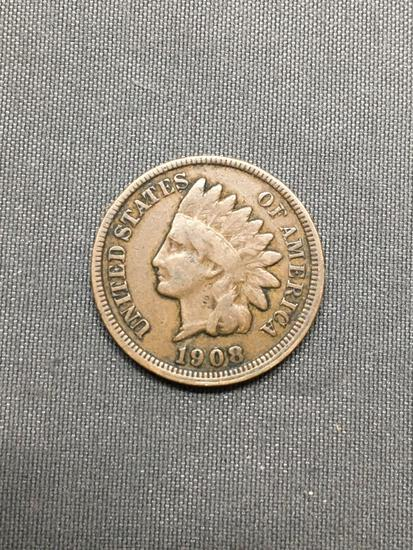 1908 United States Indian Head Penny from Estate Hoard Collection