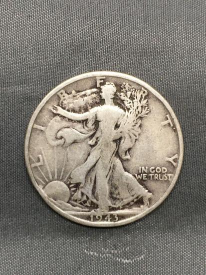 1943-S United States Walking Liberty Half Dollar - 90% Silver Coin