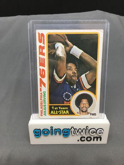 1978-79 Topps #130 DR. J JULIUS ERVING 76ers Vintage Basketball Card