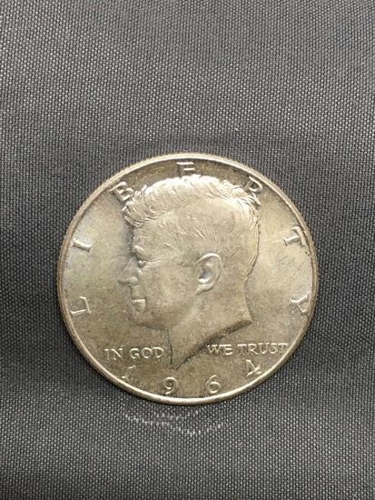 NICE 1964 United States Kennedy Half Dollar - 90% Silver Coin