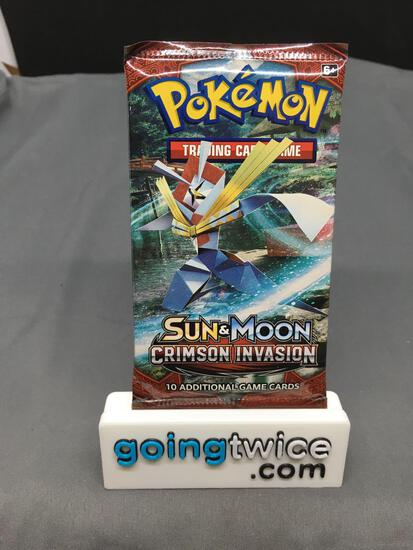 Factory Sealed 2017 Pokemon Sun & Moon CRIMSON INVASION 10 Card Booster Pack