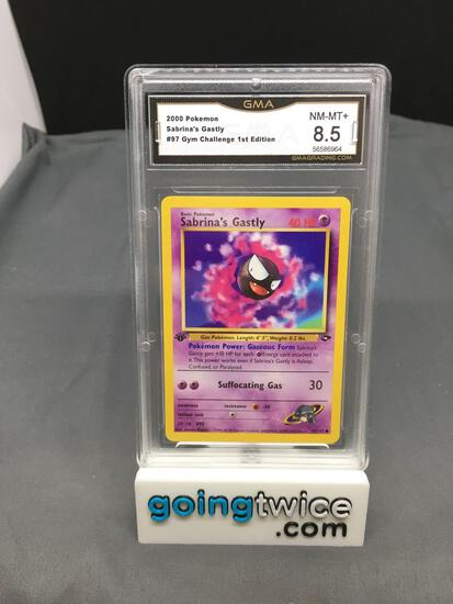 GMA Graded 2000 Pokemon Gym Challenge 1st Edition #97 SABRINA'S GASTLY - NM-MT+ 8.5