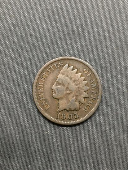 1905 United States Indian Head Penny from Estate Hoard Collection