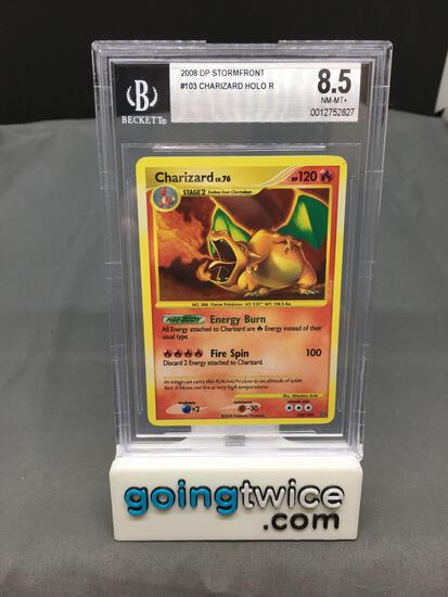 BGS Graded 2008 Stormfront #103 CHARIZARD Holofoil Rare Trading Card - NM-MT+ 8.5