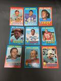 9 Card Lot of Vintage 1971 Topps Football Cards from Massive Collection
