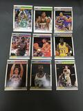 9 Card Lot of Vintage 1987-88 Fleer Basketball Cards from Massive Collection