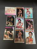 9 Card Lot of 1975-76 Topps Basketball Vintage Cards from HUGE Collection