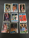 9 Card Lot of Vintage 1970's Basketball Cards with Stars and Hall of Famers from Estate