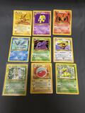 9 Card Lot of Vintage Pokemon Rare Trading Cards from Childhood Collection