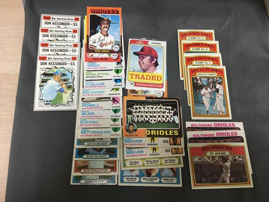 Huge Lot of Vintage BASEBALL Trading Cards from Massive Collection