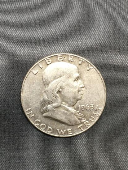 1963-D United States Franklin Silver Half Dollar - 90% Silver Coin from Estate Hoard