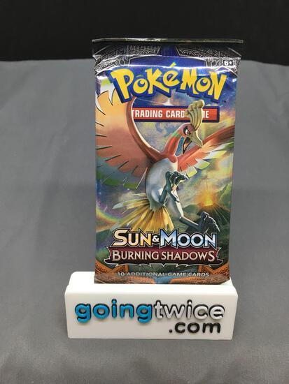 Factory Sealed Pokemon BURNING SHADOWS 10 Card Booster Pack