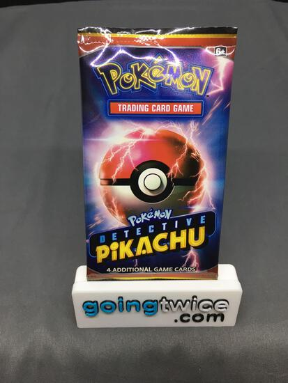 Factory Sealed Pokemon DETECTIVE PIKACHU 4 Card Booster Pack