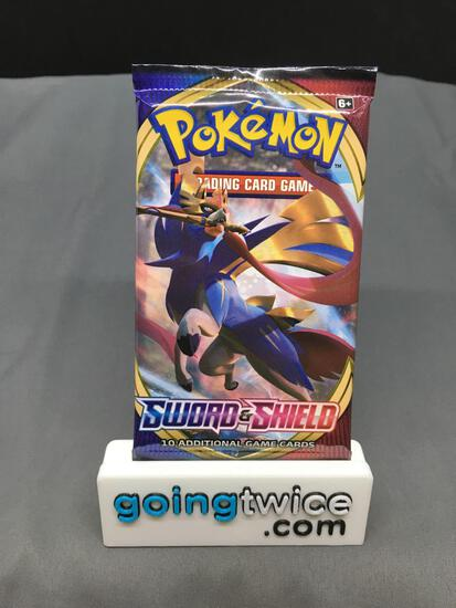 Factory Sealed Pokemon SWORD & SHIELD Base 10 Card Booster Pack