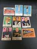 9 Card Lot of 1959 Topps Vintage Football Cards from Estate Collection