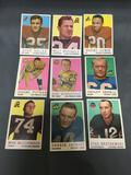 9 Card Lot of 1959 Topps Vintage Football Cards from Huge Estate Collection
