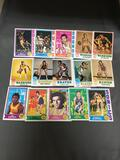 15 Card Lot of 1970s Topps Vintage Basketball Cards with Stars and Hall of Famers From Estate