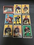 9 Card Lot of 1961 Topps Vintage Football Cards from Nice Estate Hoard