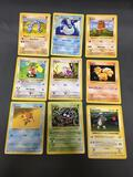 9 Card Lot of Vintage Base Set Shadowless Pokemon Card from Massive Collection