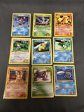 9 Card Lot of Vintage 1st Edition Pokemon from Massive Collection
