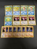 15 Count Lot of ALL Vintage 1st Edition Pokemon Trading Cards