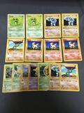Lot of 15 Base Set SHADOWLESS Pokemon Trading Cards