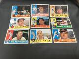9 Card Lot of 1960 Topps Vintage Baseball Cards from Estate Collection