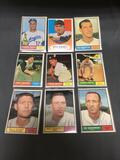 9 Card Lot of 1961 Topps Vintage Baseball Cards from Estate Collection