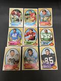 9 Card Lot of 1970 Topps Vintage Football Cards from Huge Collection