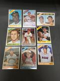 9 Card Lot of 1966 Topps Vintage Baseball Cards from Huge Collection