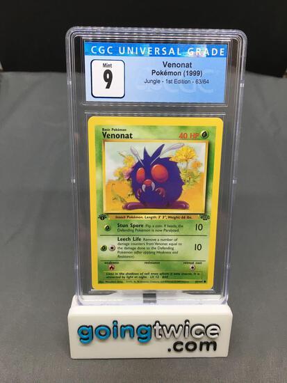 CGC Graded Pokemon Jungle 1st Edition #63 VENONAT Trading Card - MINT 9