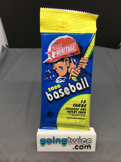 Factory Sealed 2020 Baseball TOPPS HERITAGE 15 Card Pack - Lewis Robert RC Auto?