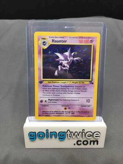 1999 Pokemon Fossil 1st Edition #6 HAUNTER Holofoil Rare Trading Card
