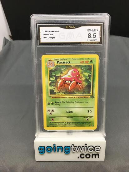 GMA Graded 1999 Pokemon Jungle Unlimited #41 PARASECT Trading Card - NM-MT+ 8.5