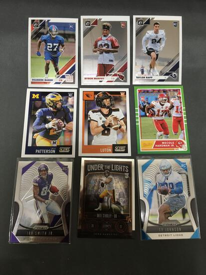 9 Card Lot of Football ROOKIE Cards - Mostly 2020 Sets - Future Stars and More!