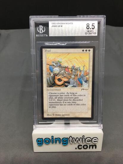 BGS Graded 1993 Magic the Gathering Arabian Nights JIHAD Rare BANNED Magic Card - NM-MT+ 8.5
