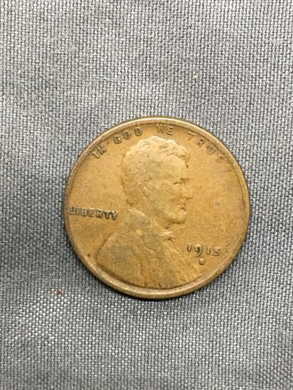 1915-S United States Lincoln Wheat Penny Coin from Estate