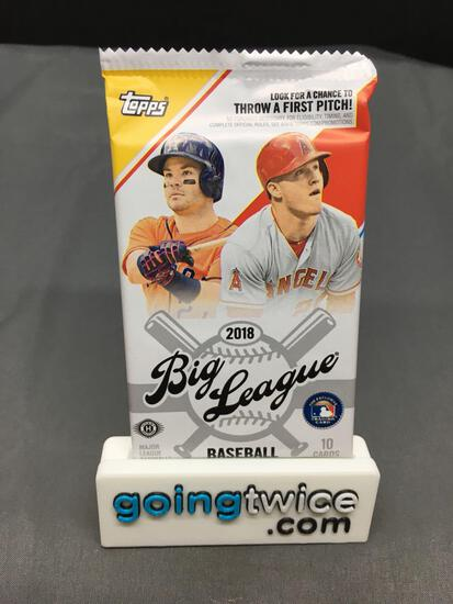 Factory Sealed 2018 Topps BIG LEAGUE Baseball 10 Card Hobby Pack