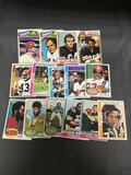 15 Card Lot of 1970s Topps Football Cards with Stars and Hall of Famers From Estate Collection