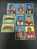 9 Card Lot of 1961 Topps Vintage Football Cards with Stars and Hall of Famers from Estate Collection