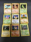 9 Card Lot of Vintage Base Set Shadowless Pokemon Card from Huge Collection