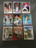 9 Card Lot of REFRACTORS and PRIZMS with Stars and Rookies from Huge Collection