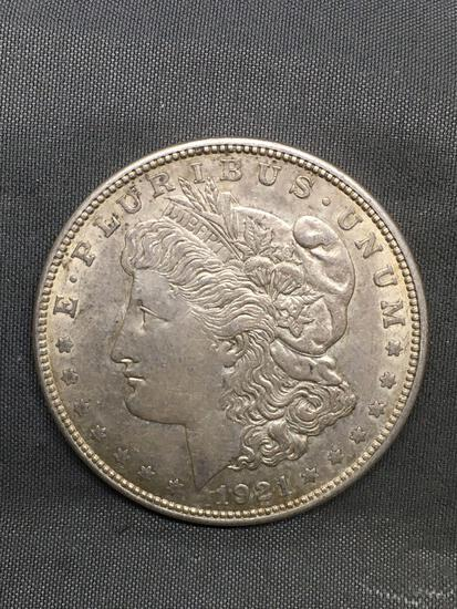 1921-D United States Morgan Silver Dollar - 90% Silver Coin from Estate