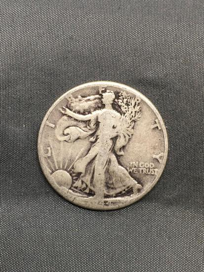 1944 United States Walking Lberty Silver Half Dollar - 90% Silver Coin from Estate